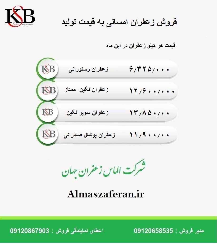 آخرین قیمت زعفران در بازار زعفران مشهد